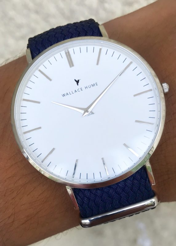 Wallace Hume Atlantic watch on wrist